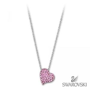 Authentic Swarovski Pink Heart necklace